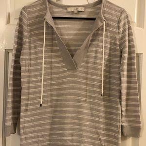 LOFT Lightweight Stripped Sweater, XS